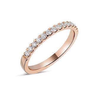 14 carat rosegold Memories ring from Nuran with 0,26 carat diamonds