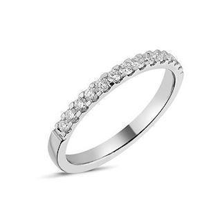 14 carat whitegold Memories ring from Nuran with 0,26 carat diamonds