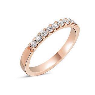 14 carat rosegold Memories ring from Nuran with 0,27 carat diamonds