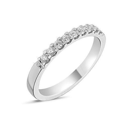 14 carat whitegold Memories ring from Nuran with 0,27 carat diamonds
