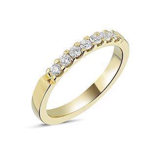 14 carat gold Memories ring from Nuran with 0,28 carat diamonds