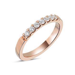 14 carat rosegold Memories ring from Nuran with 0,28 carat diamonds