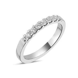 14 carat whitegold Memories ring from Nuran with 0,28 carat diamonds
