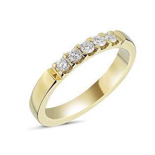 14 carat gold Memories ring from Nuran with 0,25 carat diamonds