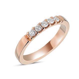 14 carat rosegold Memories ring from Nuran with 0,25 carat diamonds