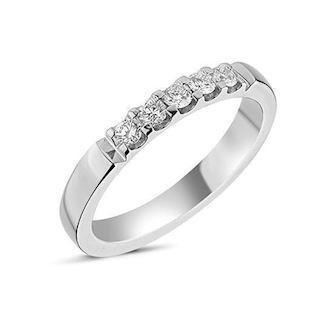 14 carat whitegold Memories ring from Nuran with 0,25 carat diamonds