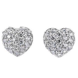 Silver heart earrings with zirkonia
