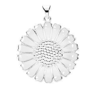 Lund of Copenhagen daisy silver pendant (25 mm), model 908025-H