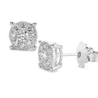 14 carat earrings with diamonds from Coronet