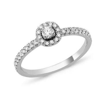 Sofia by Nuran 14 carat ring with lots of glittering diamonds