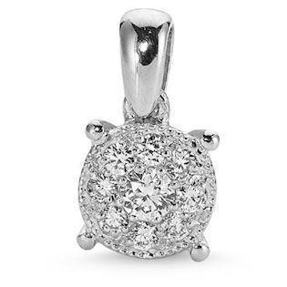 Sofia pendant in 14 ct whitegold with 0,14 ct diamonds
