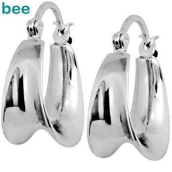 Silver gipsy hoop earrings