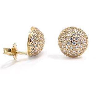 Ball earrings in Italian design w/ zirkonia