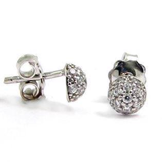 Little ball earrings in Italian design w/ zirkonia