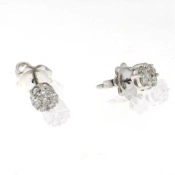 18 ct whitegold earrings with total of 0,36 ct diamond
