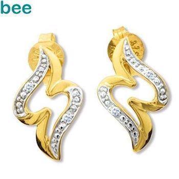 Gold and Diamond Designer Earrings