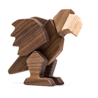 Fablewood Parrot - The Queen of Heaven - wooden figure composed of magnets