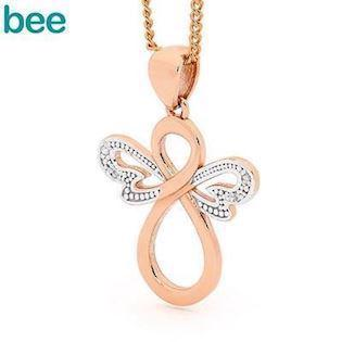 Bee Jewelry rosegold Angel Pendant, model 65599