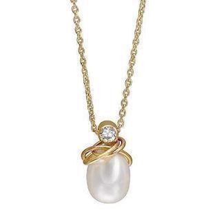 Rabinivich 32520101, Gold platted necklace with pearls