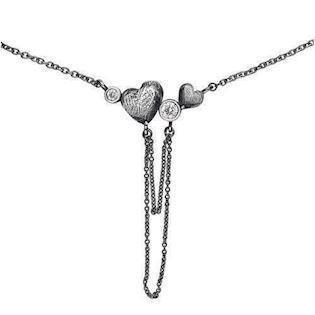 Rabinivich 41716170, Silver necklace with heart pendant