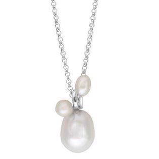 Rabinivich 57110101, Silver necklace with pearls