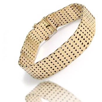brick bracelets and necklaces in 14 carat solid gold from Danish BNH