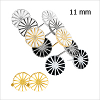 Daisy earrings and ear clips from Lund Copenhagen, 11 mm in diameter