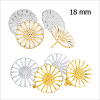 Daisy earrings and ear clips from Lund Copenhagen, 18 mm in diameter