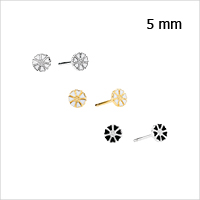 Daisy earrings from Lund Copenhagen, 5 mm in diameter