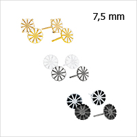 Daisy earrings from Lund Copenhagen, 7,5 mm in diameter