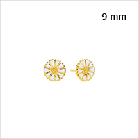 Daisy earrings from Lund Copenhagen, 9 mm in diameter
