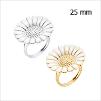 Daisy rings from Lund Copenhagen, 25 mm in diameter