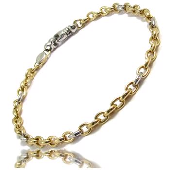 14 karat two-tone Italian gold chain