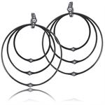 Infinity oxidated big silver earrings by Izabel Camille