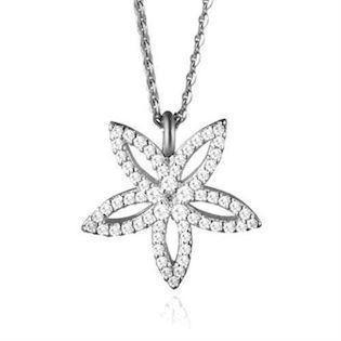 Sophisticated Flower - silver pendant by Izabel Camille