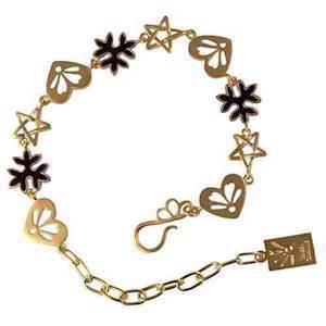 Love Story gold plated bracelet by Izabel camille