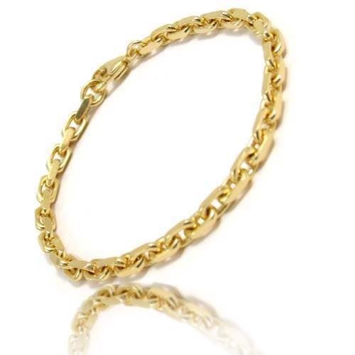 14 ct Anchor facet cut gold bracelets, necklaces and anklets in several sizes and lenghts