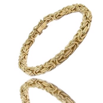 14 carat solid gold byzantine bracelet and necklaces from Danish BNH