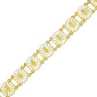 Lund Copenhagen bracelet in gold-plated sterling silver with 13 daisy flower, model L_901011-M