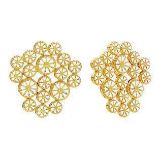 Lund Earring, model 909020-4-M - 3 x 7,5 & 15 x 5,0 mm Daisies