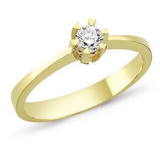 14 carat gold ring STAR from Nuran with 0,03-0,50 carat diamond,11 different sizes
