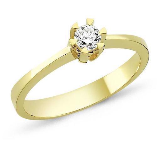 14 carat gold ring STAR from Nuran with 0,03-0,20 carat diamond