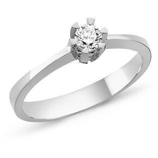 14 carat white gold ring STAR from Nuran with 0,03-0,20 carat diamond