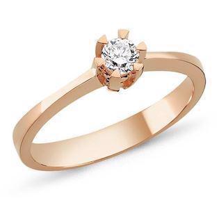 14 carat rosa gold ring STAR from Nuran with 0,03-0,50 carat diamond
