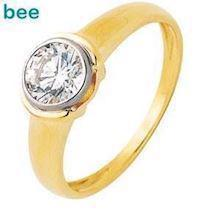 Modern Cubic Zirconia Solitaire Ring