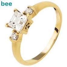 Square Cubic Zirconia Solitaire Ring