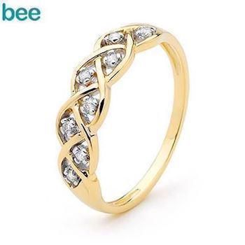 Dreamweaver Ring - 9 kt - Yellow Gold and Diamond