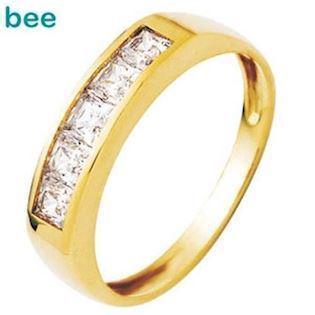 Princess Cut Cubic Zirconia Eternity Ring
