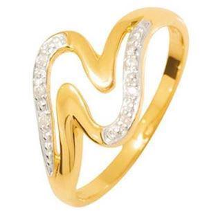 9 ct. Yellow gold diamond ring