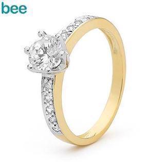 Stunning 1 carat cubic zirconia solitaire ring